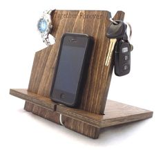 Cell phone docking station, gifts for men, gifts for him