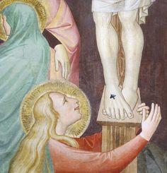 Niccolò di Pietro Gerini - Crocifissione, dettaglio - affresco - 1387 - Sala capitolare, Chiesa di S. Felicita, Firenze