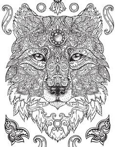Wolf Abstract Doodle Zentangle Coloring pages colouring