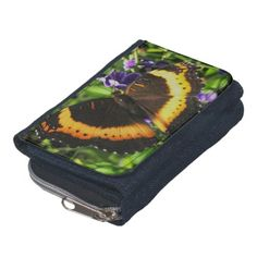 A Milbert's tortoiseshell butterfly wallet.