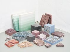"""""""Petrified Carpets,"""" an exhibit by Studio Ossidiana at the 2016 Dutch Design Festival. Image © Kyoungtae Kim"""
