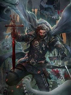 "Here is a part of my work on the dark fantasy mobile RPG ""Iron Blade"", by Gameloft Those artworks were produced in the Gameloft Paris HQ Art Team, under the direction of our Art Director Pascal Barret. Fantasy Warrior, Fantasy Male, High Fantasy, Medieval Fantasy, Character Creation, Character Concept, Character Art, Concept Art, Dnd Characters"