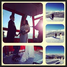 Whistler Mountain Peak2peak Gondola #winter wedding January 2013.