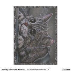 Drawing of Grey Kitten on Blanket http://www.zazzle.com/drawing_of_grey_kitten_on_blanket-256536316931912417?CMPN=shareicon&lang=en&social=true&view=113092351378993518&rf=238588924226571373
