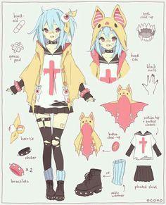 anime, anime girl, and kawaii image Manga Drawing, Manga Art, Anime Art, Character Concept, Character Art, Concept Art, Anime Outfits, Anime Style, Cute Characters