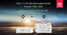 Euchips' 10~50W DALI / 1-10V LED dimmable drivers set multi-protections - Over load, short circuit and over temperature to effectively avoid the unnecessary damage and improve the service life of LED drivers and fixtures. #leddimmabledriver #dalidriver
