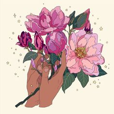 Image discovered by JTL. Find images and videos about flowers, drawing and illustration on We Heart It - the app to get lost in what you love. Aesthetic Drawing, Aesthetic Art, Pretty Art, Cute Art, Graphic Design Illustration, Illustration Art, Illustrations, Human Drawing, Flower Sketches