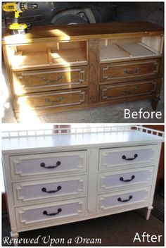 Dresser becomes changing table...becomes dresser once we're done with diapers