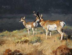 Luke Frazier paintings antelope