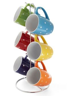 Brew What You Want Mug Set. Theres no need to worry about hosting this mornings brunch, even if you and your roomie prefer tea while your friends get their caffeine fix from cups of joe. #multi #modcloth