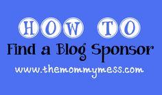 find a blog sponsor