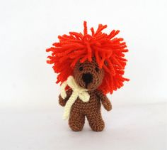 fearless LION doll, crochet lion, be like a lion, amigurumi lion, be strong…
