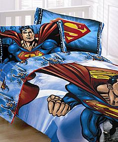 @Overstock.com - Let your children sleep soundly under the protection of the Man of Steel Superman comforter set includes comforter, a sheet set and valance Adventurous superhero bedding is a great addition to your child's bedroom decorhttp://www.overstock.com/Bedding-Bath/Superman-Comforter-Ensemble/3076987/product.html?CID=214117 $59.99