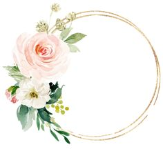 Shop Greenery & Gold Geometric Elegant Thank You Favor Classic Round Sticker created by TwoSonsPaperCo. Flower Background Wallpaper, Flower Backgrounds, Flower Circle, Flower Frame, Flower Graphic Design, Blush Bridal Showers, Creation Photo, Flower Logo, Floral Invitation