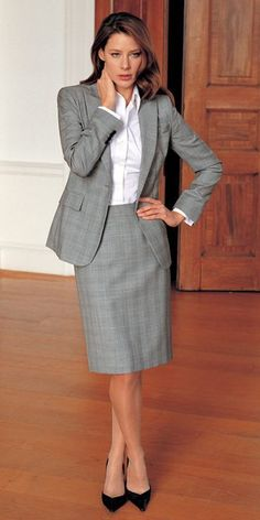   Rita and Phill specializes in custom skirts.  Follow Rita and Phill for more tips on the written rules of office fashion!  https://www.pinterest.com/ritaandphill/conservative-office-outfits/
