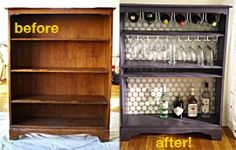 Dresser to Bar DIY...would be even better with doors