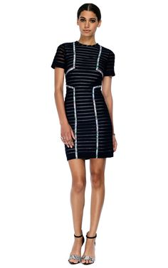 Yigal Azrouel Resort 2013 Tech Sheer Stripe Dress $750