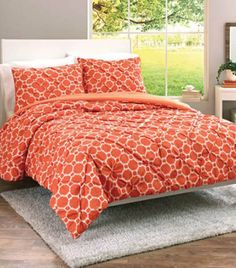 Coral Looped Trellis Bedding Set From Better Homes And Gardens At Walmart # Sweepstakes