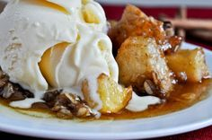Crockpot Caramel Apple Crumble With Brown Sugar, Granulated Sugar, Apples, Salt, Cinnamon, Oats, Brown Sugar, Flour, Cinnamon, Softened Butter, Vanilla Extract
