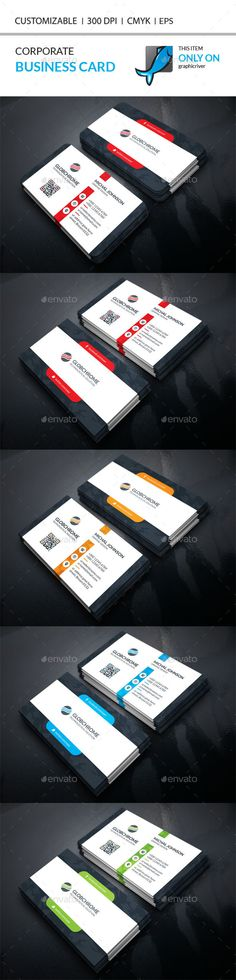 Corporate Business Card Template PSD #visitcard #design Download: http://graphicriver.net/item/corporate-business-card/13291687?ref=ksioks