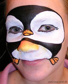 Penguin Face Paint Madagascar