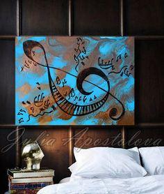 #Musicalnotes #art #Abstract #musicpainting #Print #keyboard #piano #solkey #symbol #bluepainting #goldabstract #goldpainting #blueandgold #blueabstract #abstract #art #largewallart #kidsroomdecor #schooldecor #kidsart #homedecor