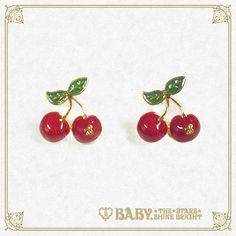 Baby, the stars shine bright Sweet Cherries pierced earrings