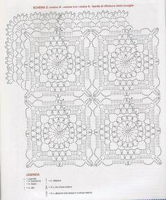 (51) Одноклассники Crochet Squares, Crochet Granny, Crochet Motif, Crochet Doilies, Crochet Lace, Crochet Stitches, Crochet Tablecloth Pattern, Crochet Blanket Patterns, Crochet Table Runner