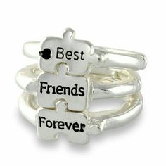 BFF Rings Brand new without tags Price is for all three. These are adjustable *Plastic* Jewelry Rings
