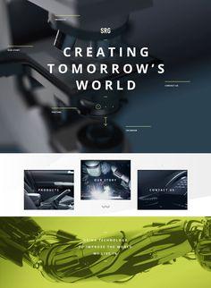 SRG, flat web design, example