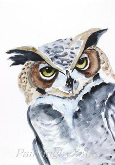 owl by Nikush on Etsy