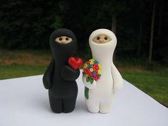 #cute #caketopper #wedding #ninjas