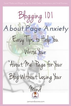 About Page Anxiety - write a killer about page for your blog without losing your mind.