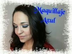MAQUILLAJE AZUL / BLUE MAKEUP .  YELY BRAVO