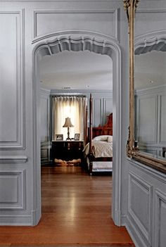 Colors for Dining Room. French paneling - traditional - hall - dallas - Hull Historical