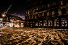 Cobblestone streets in Meatpacking district of New York City