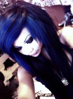 color: well i honestly like doing just the bangs  or just on top... theres also full head color... most colors for emo hair is black, purple, blue, dark colors