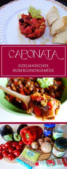 Caponata - ein aromatisches Rezept für das berühmte sizilianische Auberginengericht! Vegetarisch, glutenfrei & toll im Sommer | cucina-con-amore.de