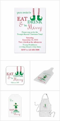 Eat, Drink, & Be Merry Elf Holiday Items