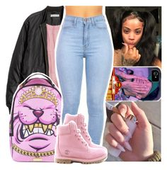 """you can look into my eyes and see the demon in me"" by daeethakidd ❤ liked on Polyvore featuring Timberland"
