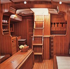 yacht interior ~ Springwolf Now that is pretty and would be perfect for a Tiny House kitchen.