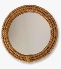 The LL Bean deal you can't get anymore. Maybe I could add some rope to a basic Ikea mirror? Rope Mirror, Ikea Mirror, Diy Mirror, Nautical Looks, Nautical Rope, Nautical Theme, Nautical Mirror, Nautical Bathrooms, Round Mirrors