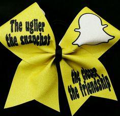 Cheer Bow Snapchat Glitter Cheer Bows | eBay