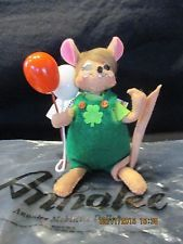 "Annalee 2013---5"" Irish Balloon Mouse""---St.Patrick's Day--New with Tag and Bag"