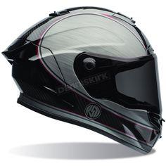 silver & black sport bike racing gear | Bell Helmets Silver/Black RSD Chief Race Star Helmet ...
