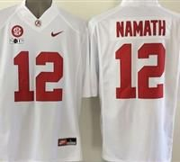 new style c1ca9 daffb ncaa jerseys alabama crimson tide 12 joe namath white ...