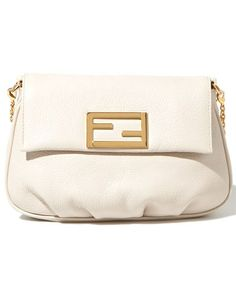 white clutch bag, Fendi