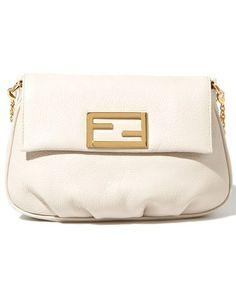 white clutch bag, Fendi