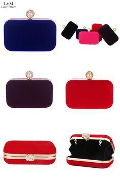 [Visit to Buy] Ladies Velvet Clutch Pearl Crystal Evening Bags Women Velour Party Wedding Hand Bag Bridal Luxury Mini Day Purse bolsos XA836H #Advertisement