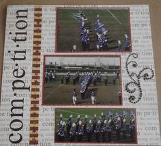 High School Scrapbook Layouts   high school scrapbook pages   High School Marching Band Layout Page 7 ...